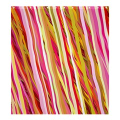 Color Ribbons Background Wallpaper Shower Curtain 66  x 72  (Large)
