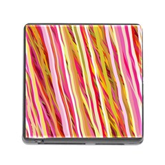Color Ribbons Background Wallpaper Memory Card Reader (square)
