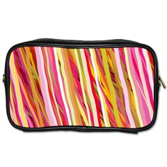 Color Ribbons Background Wallpaper Toiletries Bags 2 Side