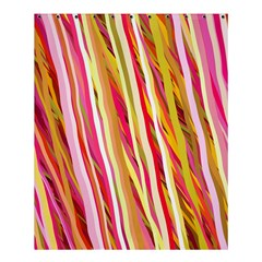 Color Ribbons Background Wallpaper Shower Curtain 60  x 72  (Medium)