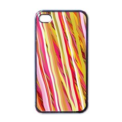 Color Ribbons Background Wallpaper Apple Iphone 4 Case (black)