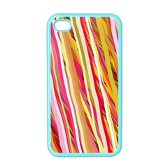 Color Ribbons Background Wallpaper Apple iPhone 4 Case (Color)