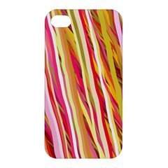 Color Ribbons Background Wallpaper Apple iPhone 4/4S Hardshell Case