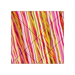 Color Ribbons Background Wallpaper Acrylic Tangram Puzzle (4  X 4 )