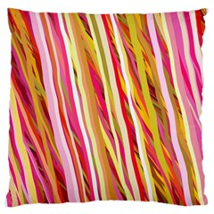 Color Ribbons Background Wallpaper Large Cushion Case (two Sides)