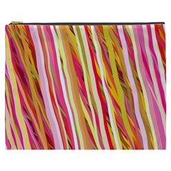 Color Ribbons Background Wallpaper Cosmetic Bag (XXXL)