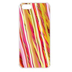 Color Ribbons Background Wallpaper Apple Iphone 5 Seamless Case (white)