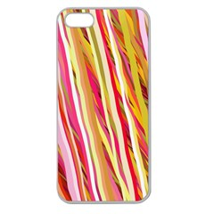 Color Ribbons Background Wallpaper Apple Seamless Iphone 5 Case (clear)