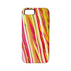 Color Ribbons Background Wallpaper Apple Iphone 5 Classic Hardshell Case (pc+silicone)