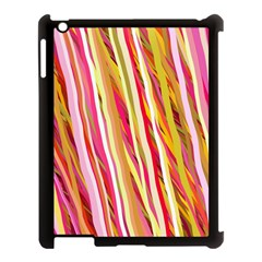 Color Ribbons Background Wallpaper Apple Ipad 3/4 Case (black)