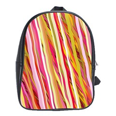Color Ribbons Background Wallpaper School Bags (XL)
