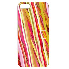 Color Ribbons Background Wallpaper Apple Iphone 5 Hardshell Case With Stand