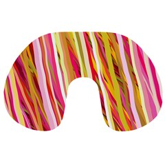 Color Ribbons Background Wallpaper Travel Neck Pillows