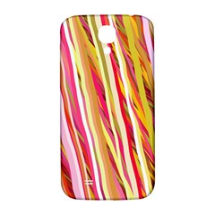 Color Ribbons Background Wallpaper Samsung Galaxy S4 I9500/i9505  Hardshell Back Case