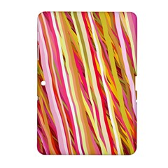 Color Ribbons Background Wallpaper Samsung Galaxy Tab 2 (10 1 ) P5100 Hardshell Case