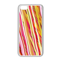 Color Ribbons Background Wallpaper Apple iPhone 5C Seamless Case (White)