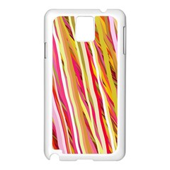 Color Ribbons Background Wallpaper Samsung Galaxy Note 3 N9005 Case (white)