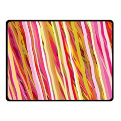 Color Ribbons Background Wallpaper Double Sided Fleece Blanket (small)