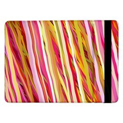 Color Ribbons Background Wallpaper Samsung Galaxy Tab Pro 12 2  Flip Case