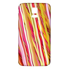 Color Ribbons Background Wallpaper Samsung Galaxy S5 Back Case (White)