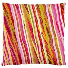 Color Ribbons Background Wallpaper Standard Flano Cushion Case (one Side)
