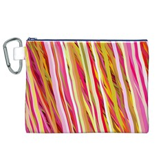 Color Ribbons Background Wallpaper Canvas Cosmetic Bag (xl)