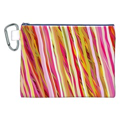 Color Ribbons Background Wallpaper Canvas Cosmetic Bag (xxl)