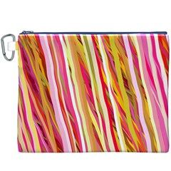 Color Ribbons Background Wallpaper Canvas Cosmetic Bag (XXXL)