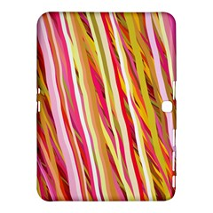 Color Ribbons Background Wallpaper Samsung Galaxy Tab 4 (10.1 ) Hardshell Case