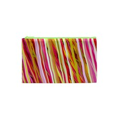 Color Ribbons Background Wallpaper Cosmetic Bag (xs)