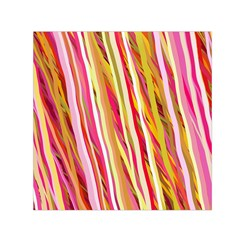 Color Ribbons Background Wallpaper Small Satin Scarf (square)