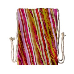Color Ribbons Background Wallpaper Drawstring Bag (Small)
