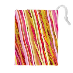 Color Ribbons Background Wallpaper Drawstring Pouches (Extra Large)