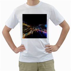 Frozen In Time Men s T-Shirt (White) (Two Sided)