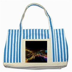 Frozen In Time Striped Blue Tote Bag