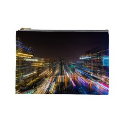 Frozen In Time Cosmetic Bag (large)