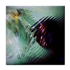 Out Of Time Glass Pearl Flowag Tile Coasters
