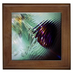 Out Of Time Glass Pearl Flowag Framed Tiles