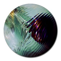 Out Of Time Glass Pearl Flowag Round Mousepads