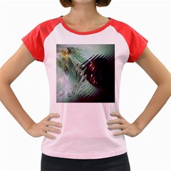Out Of Time Glass Pearl Flowag Women s Cap Sleeve T-Shirt