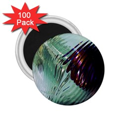 Out Of Time Glass Pearl Flowag 2 25  Magnets (100 Pack)