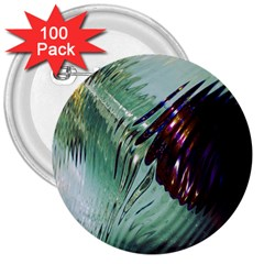 Out Of Time Glass Pearl Flowag 3  Buttons (100 pack)