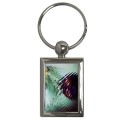 Out Of Time Glass Pearl Flowag Key Chains (Rectangle)