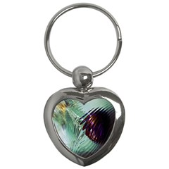 Out Of Time Glass Pearl Flowag Key Chains (heart)