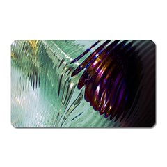 Out Of Time Glass Pearl Flowag Magnet (Rectangular)