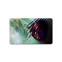 Out Of Time Glass Pearl Flowag Magnet (name Card)