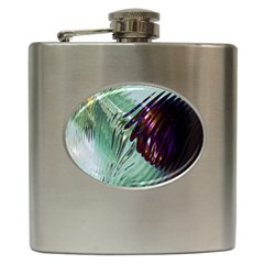 Out Of Time Glass Pearl Flowag Hip Flask (6 oz)