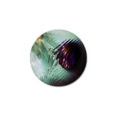 Out Of Time Glass Pearl Flowag Golf Ball Marker (4 pack)