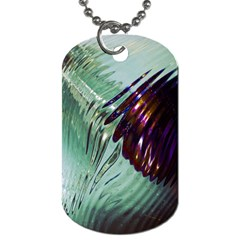Out Of Time Glass Pearl Flowag Dog Tag (Two Sides)