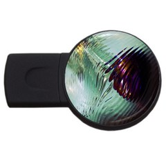 Out Of Time Glass Pearl Flowag USB Flash Drive Round (2 GB)